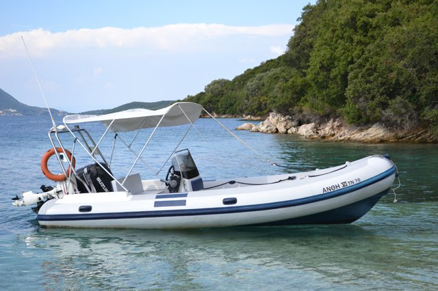 Explore Greek waters on this Selva rib