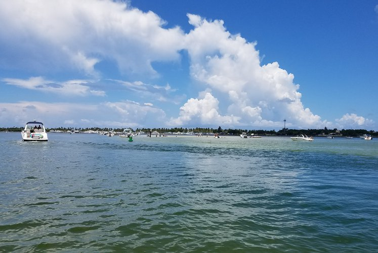 Pontoon boat for rent in sunny isles