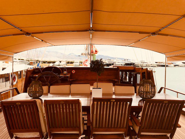 Discover Saronic Gulf surroundings on this M/S Fortiter Custom Made boat