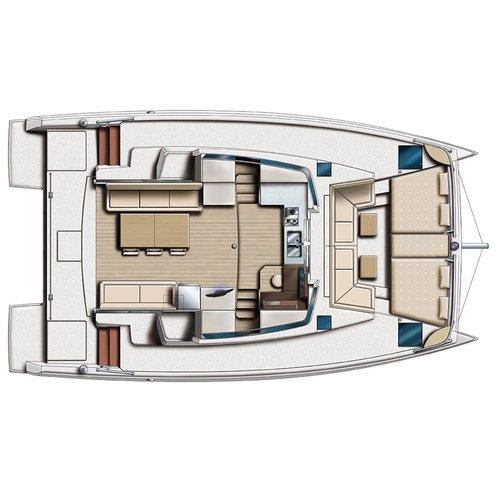 Catamaran boat for rent in Blue Lagoon