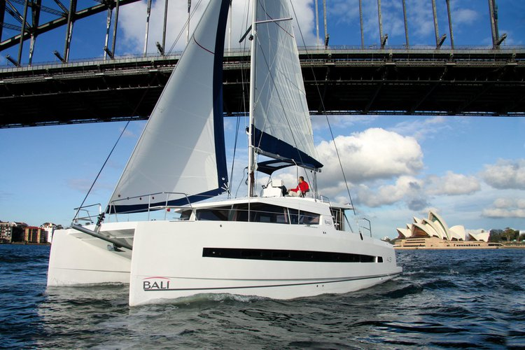 This 43.0' Bali cand take up to 12 passengers around Le Marin