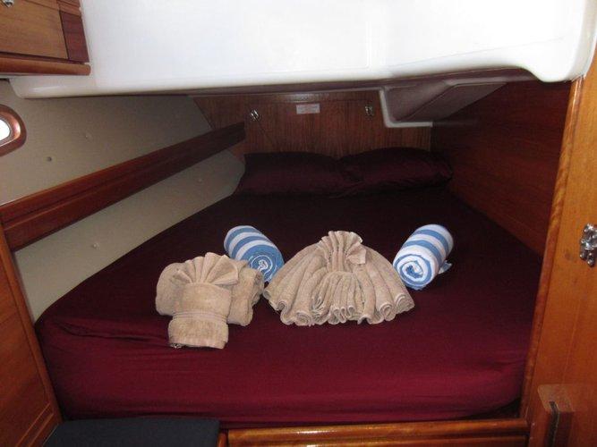 Discover True Blue surroundings on this Custom Bavaria boat