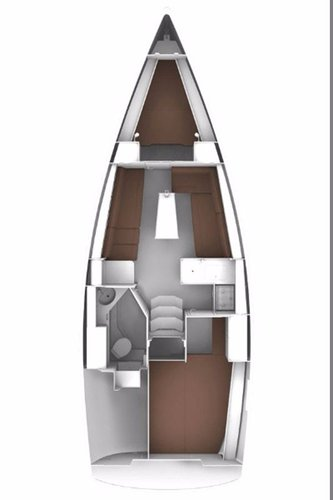 This 32.0' Bavaria Yachtbau cand take up to 4 passengers around Balearic Islands