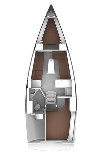 This 32.0' Bavaria Yachtbau cand take up to 6 passengers around Liguria