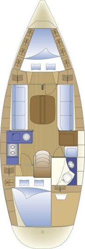 This 33.0' Bavaria Yachtbau cand take up to 6 passengers around Cyclades