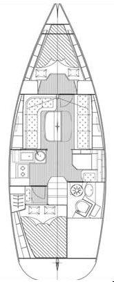 This 34.0' Bavaria Yachtbau cand take up to 5 passengers around Šibenik region