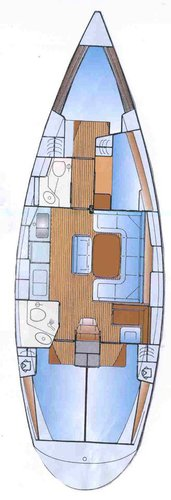 This 43.0' Bavaria Yachtbau cand take up to 9 passengers around Ionian Islands