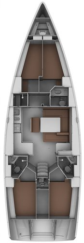 This 46.0' Bavaria Yachtbau cand take up to 10 passengers around