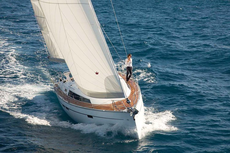 This 46.0' Bavaria Yachtbau cand take up to 9 passengers around Dodecanese