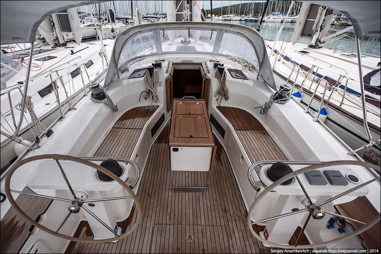This 46.0' Bavaria Yachtbau cand take up to 10 passengers around Zadar region