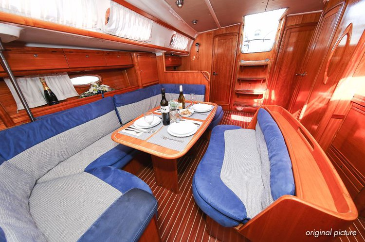 This 47.0' Bavaria Yachtbau cand take up to 9 passengers around Zadar region