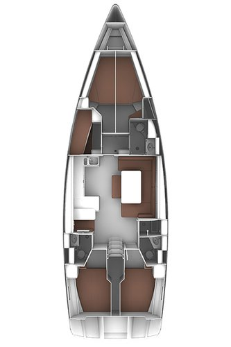 This 49.0' Bavaria Yachtbau cand take up to 10 passengers around Balearic Islands