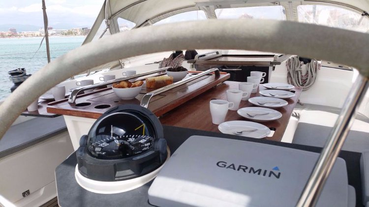 This 54.0' Bavaria Yachtbau cand take up to 10 passengers around Balearic Islands