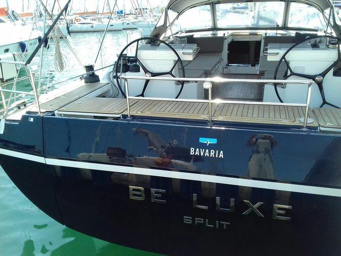 This 54.0' Bavaria Yachtbau cand take up to 8 passengers around Split region