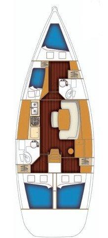 Boat for rent Bénéteau 43.0 feet in Marina Kornati, Biograd, Croatia