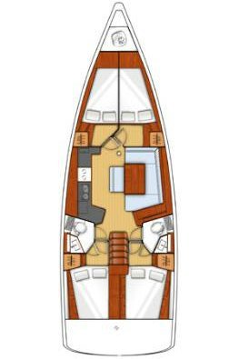 This 45.0' Bénéteau cand take up to 10 passengers around Cyclades