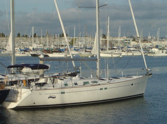 This 47.0' Beneteau cand take up to 6 passengers around Marina Del Rey