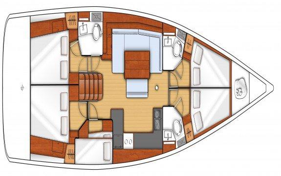 47.9 feet Beneteau in great shape