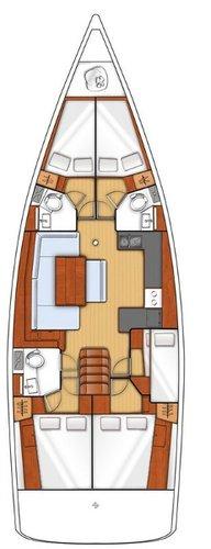 Boat for rent Bénéteau 47.0 feet in Marina Kastela, Kastela,