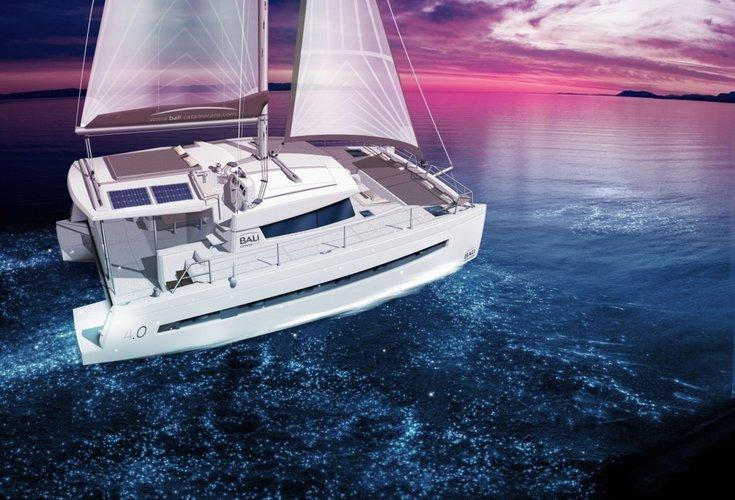This 39.0' Catana cand take up to 10 passengers around Ionian Islands