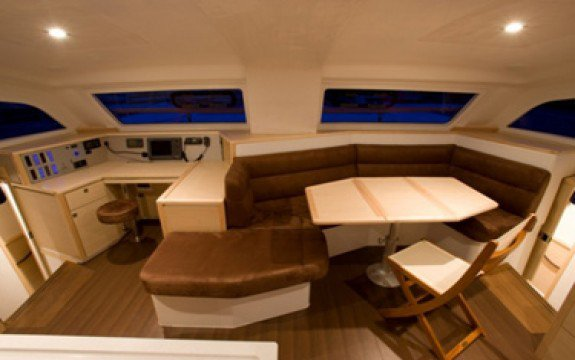 Discover Le Marin surroundings on this Custom Catana boat