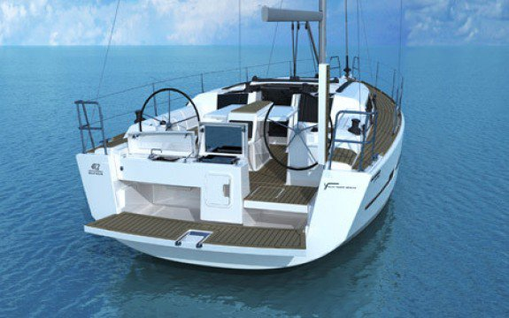 Discover Le Marin surroundings on this 412 Liberty Dufour boat