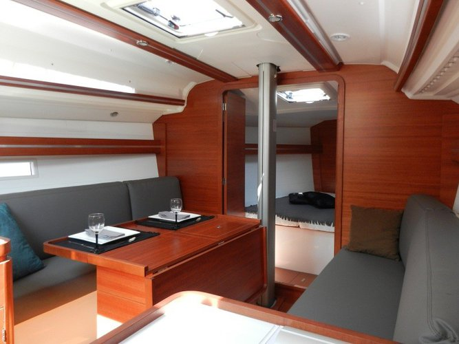 Discover Aegean surroundings on this Dufour 36 Performance Dufour Yachts boat