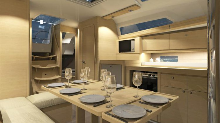 Discover Saronic Gulf surroundings on this Dufour 382 GL Dufour Yachts boat