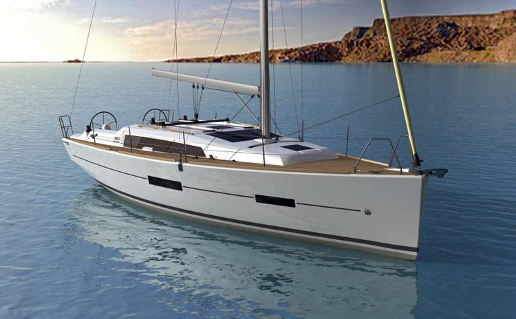 Discover Scarlino surroundings on this Dufour 382 GL Dufour Yachts boat