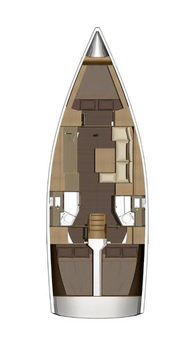 This 36.0' Dufour Yachts cand take up to 8 passengers around Split region