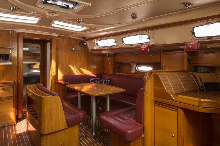 This 36.0' Dufour Yachts cand take up to 7 passengers around Stockholm County