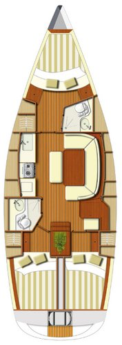 Discover Split region surroundings on this Dufour 385 GL Dufour Yachts boat