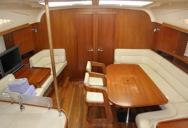 Discover Saronic Gulf surroundings on this Elan 514 Impression Elan Marine boat