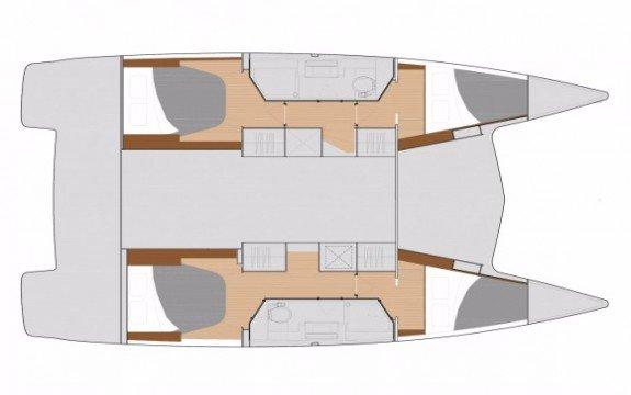 Catamaran boat rental in La Lonja Marina, Palma de Mallorca, Spain