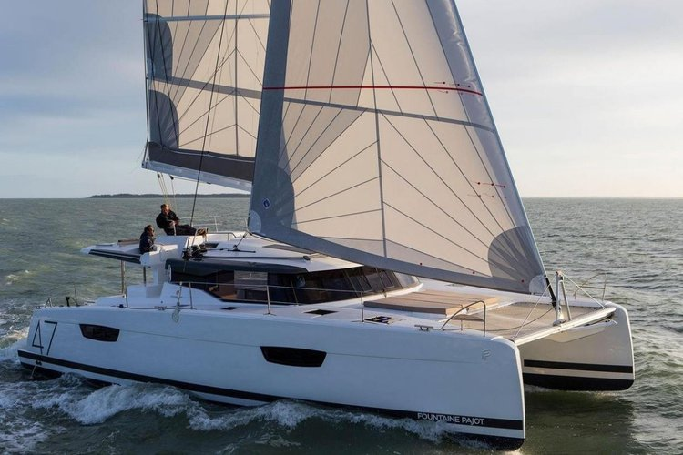 Fountaine Pajot's 42.65 feet in Le Marin
