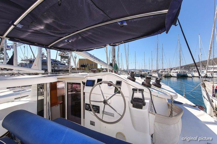 Catamaran boat for rent in Split region
