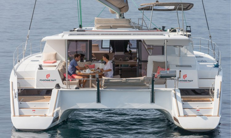 Catamaran boat for rent in Split region
