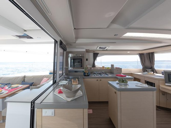 Catamaran boat for rent in Cyclades