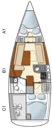 This 31.0' Hanse Yachts cand take up to 5 passengers around Dubrovnik region