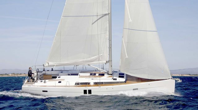 Discover Saronic Gulf surroundings on this Hanse 385 Hanse Yachts boat