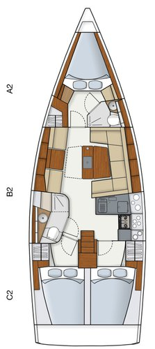 This 40.0' Hanse Yachts cand take up to 8 passengers around Cyclades