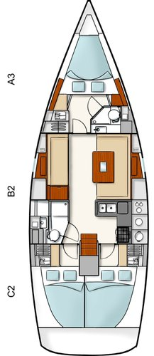 This 39.0' Hanse Yachts cand take up to 8 passengers around Zadar region