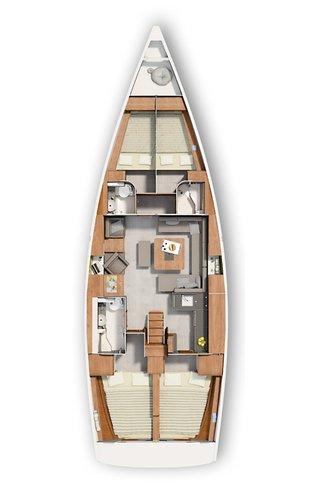 Boat for rent Hanse Yachts 45.0 feet in Marina Frapa, Rogoznica,