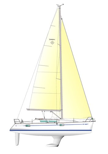 This 38.0' Jeanneau cand take up to 7 passengers around Lazio