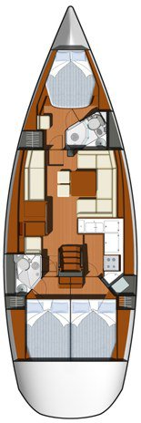 Discover Šibenik region surroundings on this Sun Odyssey 45 DS Jeanneau boat