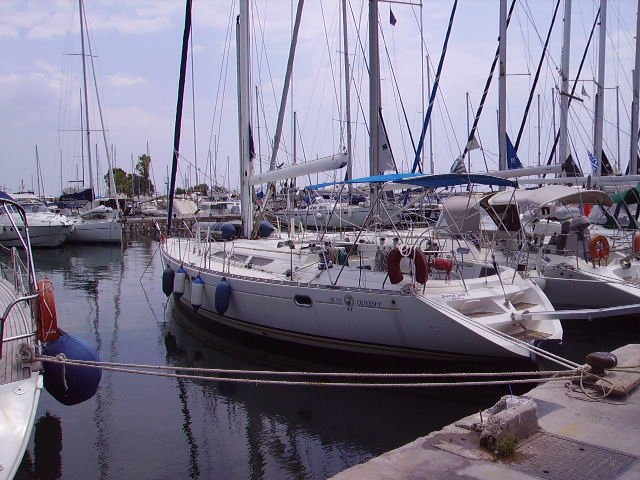 Discover Saronic Gulf surroundings on this Sun Odyssey 47 Jeanneau boat