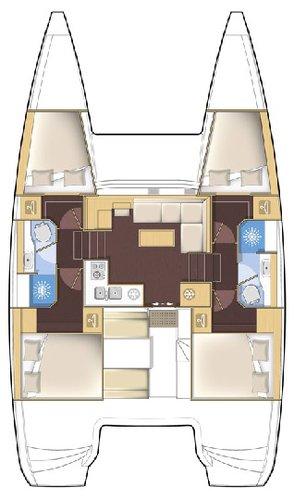 Catamaran boat rental in Marina Betina, Murter,