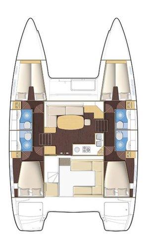 Boat for rent Lagoon-Bénéteau 39.0 feet in Kos, Kos Marina, Greece