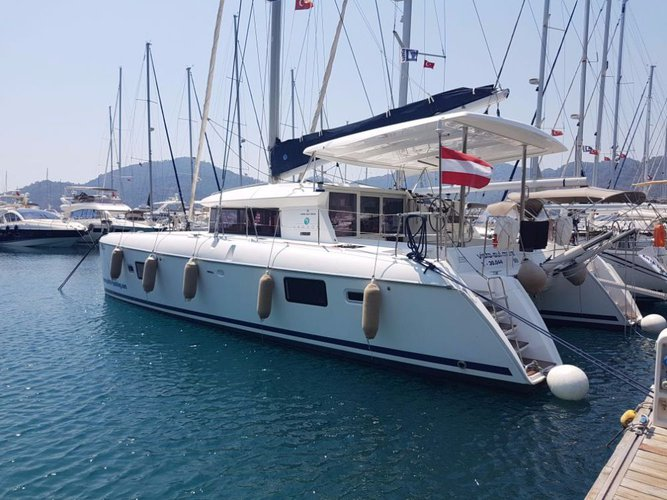 Catamaran boat rental in Aegean,