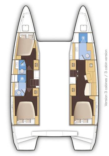Catamaran boat rental in ACI marina Slano,